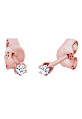 Diamore Women's 925Gold Plated Xilion Cut Daimond Earrings