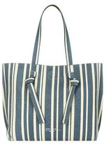 Max Mara Reversible Leather Striped Tote Bag