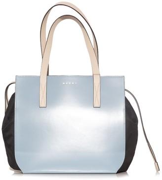 Marni Handbags Gusset Shopping Bag in Smoke Blue