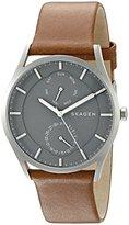 Skagen Men's SKW6264 Holst Dark Brown Leather Watch