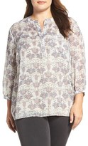 NYDJ Plus Size Women's Print Blouse