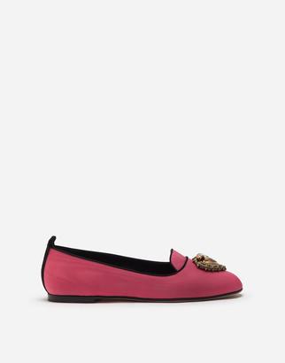 Dolce & Gabbana Moire Devotion Slippers