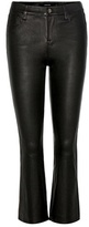 J Brand Selena mid-rise cropped leather trousers
