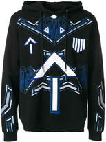 Les Hommes printed hoodie