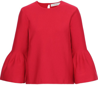 Carolina Herrera Fluted Pleated Wool-blend Sweater