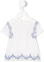 Simple embroidered top - kids - Cotton - 6 mth