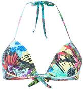 Ermanno Scervino tropical print bikini top