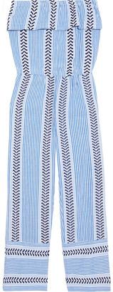Lemlem Kesiti Strapless Layered Cotton-blend Jacquard Jumpsuit