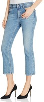 Iro . Jeans IRO.JEANS Freya Crop Flare Jeans in Denim Blue