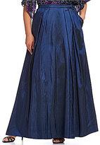 Alex Evenings Plus Long Taffeta Full Skirt