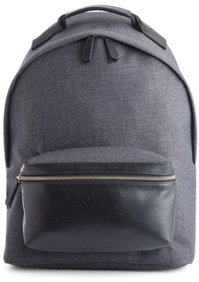 Royce New York Mixed Media Laptop Backpack