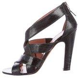 Alaia Ostrich Leg Multistrap Sandals