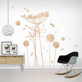 Little Darlings funky Wood Print Cowparsley Wall Stickers