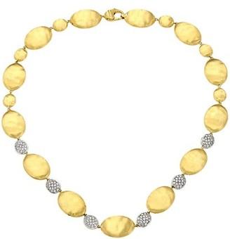 Marco Bicego Siviglia 18K Gold & Diamond Large Bean Necklace