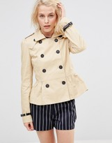 Lavand Short Double Breasted Classic Trench