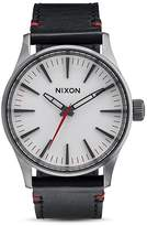 Nixon Sentry 38 Leather Strap Watch, 38mm