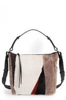 AllSaints 'Kita' Genuine Shearling Shoulder Bag - Beige