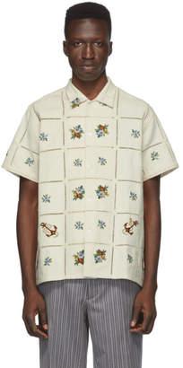 BEIGE Bode Floral Patch Shirt