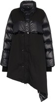 Unravel Project Asymmetric Padded Feather and Cotton Coat