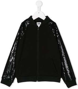Karl Lagerfeld Paris Rsg sequinned bomber jacket