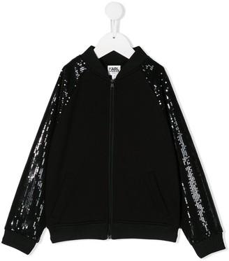 Karl Lagerfeld Paris Rsg sequinned bomber jacket