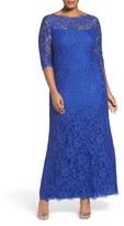 Tadashi Shoji Plus Size Women's Corded Lace Gown