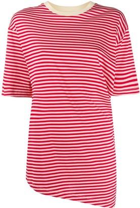 Marni striped panel asymmetric T-shirt