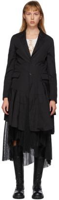 Comme des Garçons Homme Plus Black Cotton Broadcloth Spiral Seam Coat