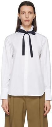 Chloé White Poplin High-Neck Shirt