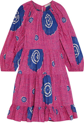 Ulla Johnson Emelyn Open-back Printed Cotton-poplin Dress