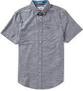 Original Penguin Chambray Argyle Print Slim-Fit Short-Sleeve Woven Shirt