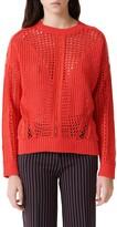 Maje Mazet Open Crochet Sweater