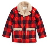 Hatley Toddler Boy's Faux Shearling Flannel Jacket