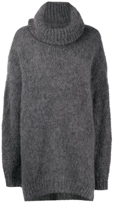 Isabel Marant Oversize Mohair-Wool Blend Roll-Neck Knit Jumper