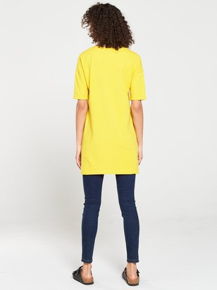 Very The Essential Three Quarter Sleeve Longline Top - Yellow