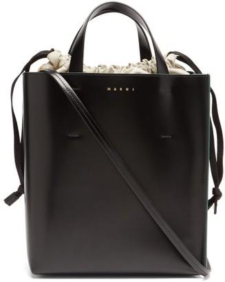 Marni Museo Small Leather Tote Bag - Black