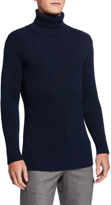Bottega Veneta Men's Heavy Rib-Knit Turtleneck Sweater