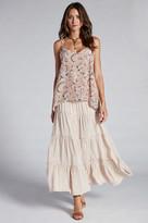 Gold Hawk Smocking Skirt And Dress