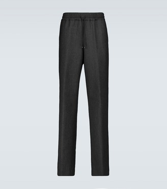 Dries Van Noten Herringbone drawstring wool pants
