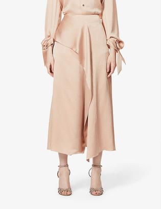 Roland Mouret Falun high-waist silk midi skirt