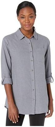 Prana Aster Tunic (Vapor) Women's Long Sleeve Button Up
