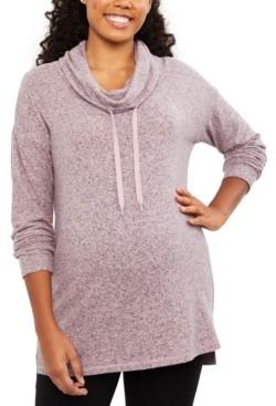 Motherhood Maternity Cowl-Neck Sweatshirt