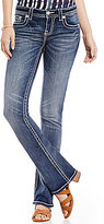 Miss Me Fleur De Lis Stretch Denim Bootcut Jeans