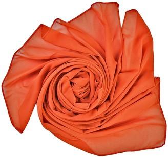 World of Shawls Elegant Chiffon Scarf Wrap Wedding Bridal Party Occasion Prom - 28 Colours (Orange)