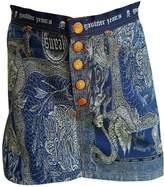 Jean Paul Gaultier Blue Cotton Skirt for Women Vintage