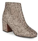 Gentle Souls Blaise Leather Snake Print Ankle Boots