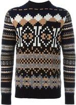 Sacai pixel intarsia knit jumper