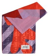 BOSS Modal scarf in mixed prints