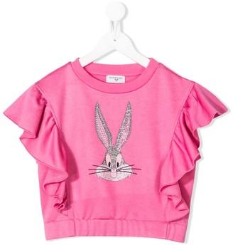 MonnaLisa Bugs Bunny ruffle T-shirt