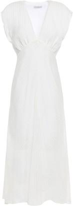 Joie Shaeryl Gathered Striped Gauze Midi Dress